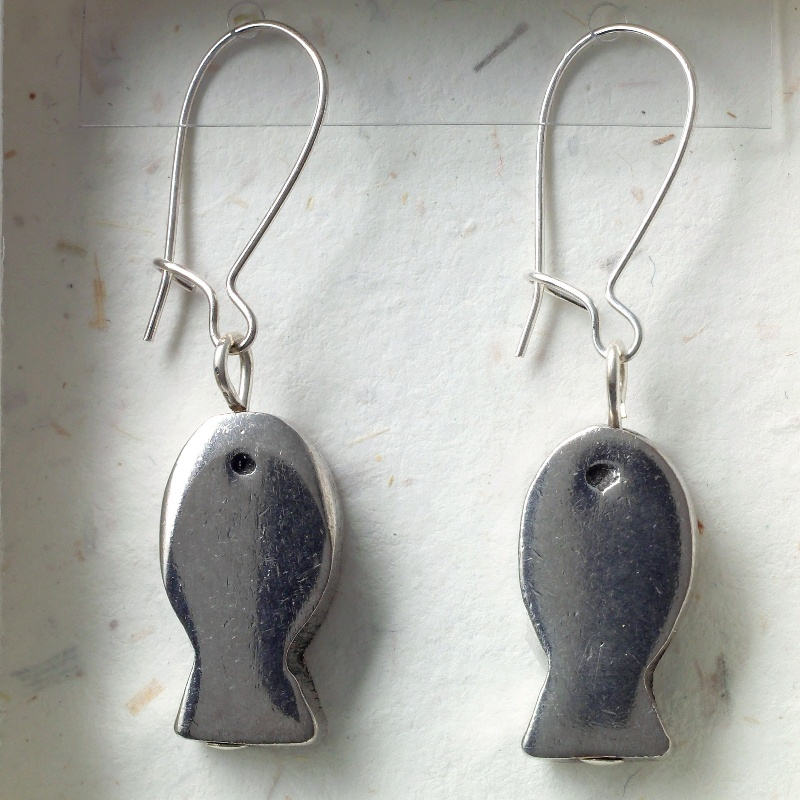 Fish earrings card