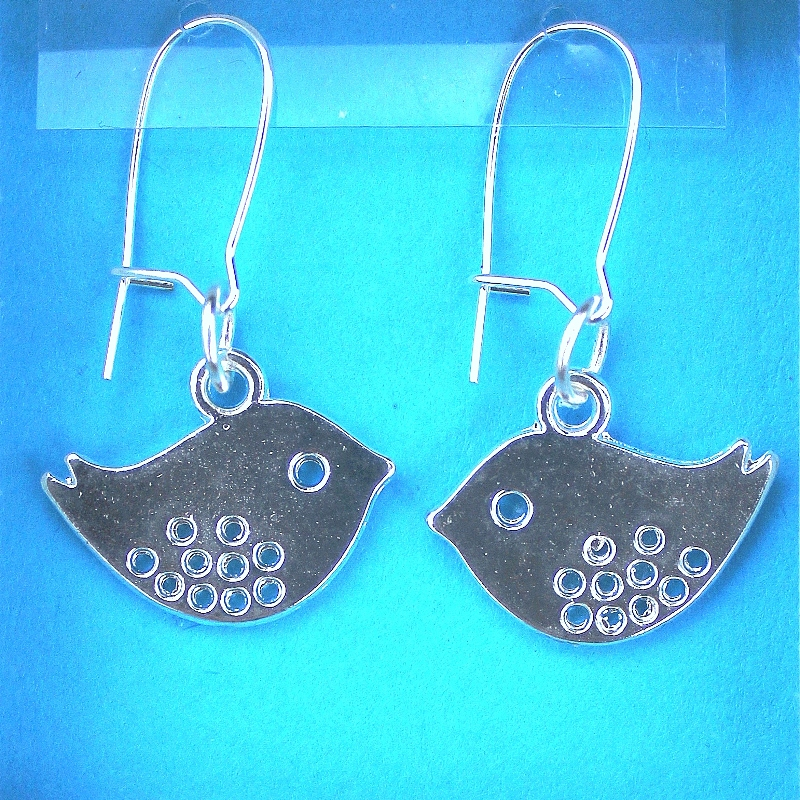 Bird earrings jewellery card