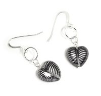 Monochrome Glass Heart earrings