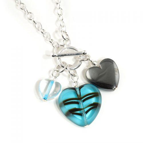 Marine Three Heart necklace
