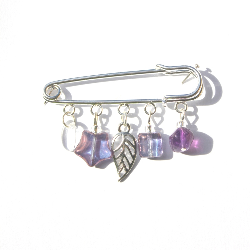 Leaf and Amethyst Kiltpin