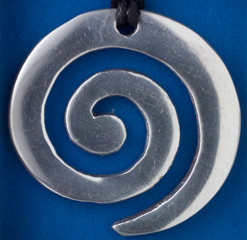 Large Spiral pendant card