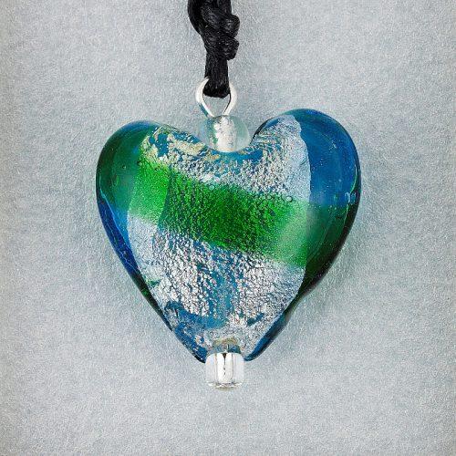 Emerald Glass Heart pendant card