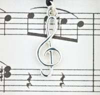 Treble Clef pendant card