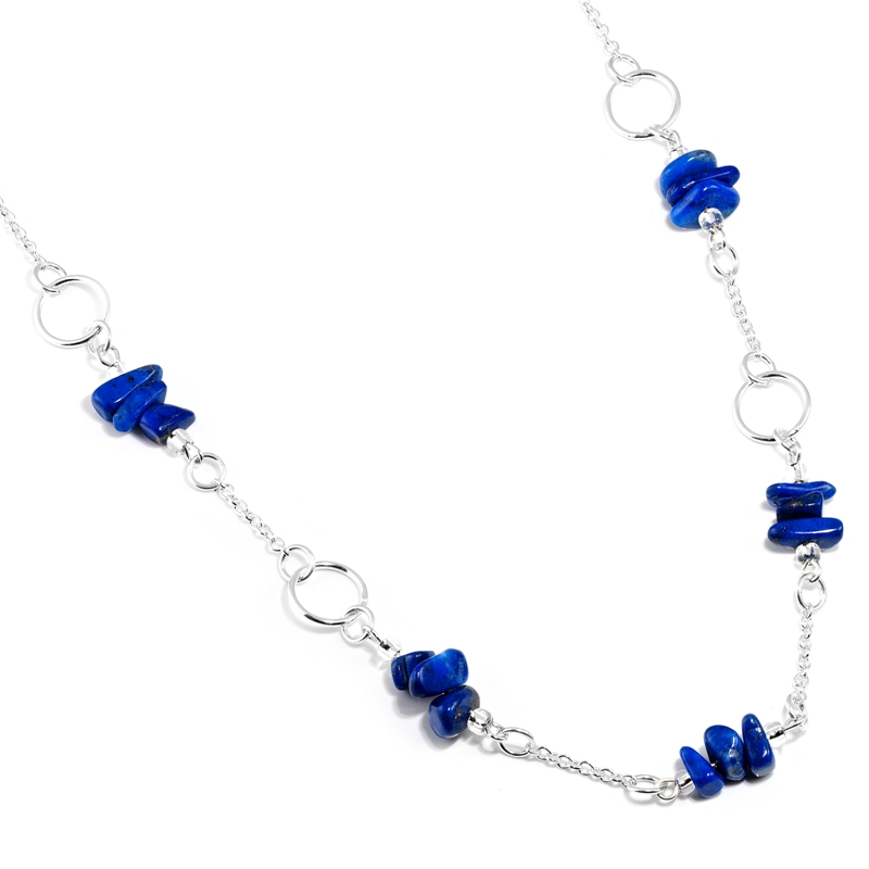 Lapis Lazuli Silver Ring Necklace