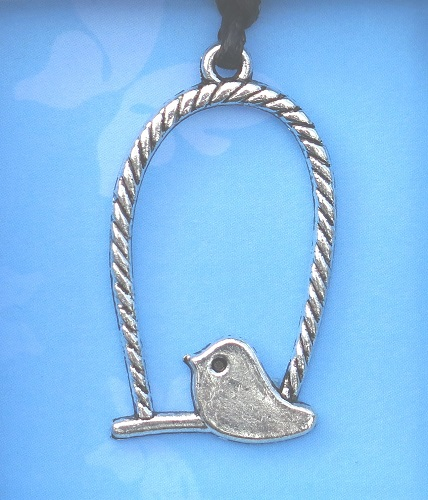 Bird on Perch pendant