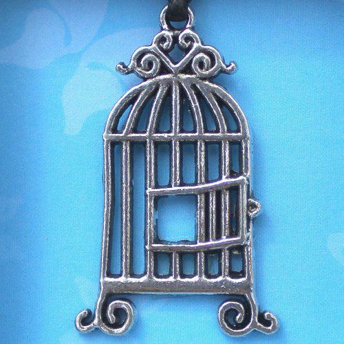 Birdcage pendant card