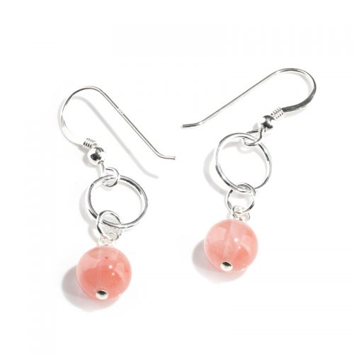 Strawberry Quartz earrings