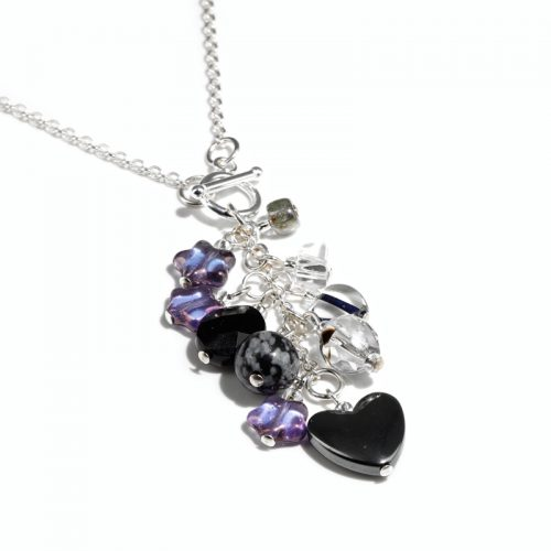 Midnight Cluster Necklace