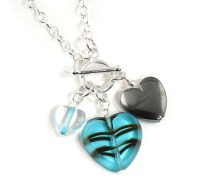 Marine Three Heart necklace