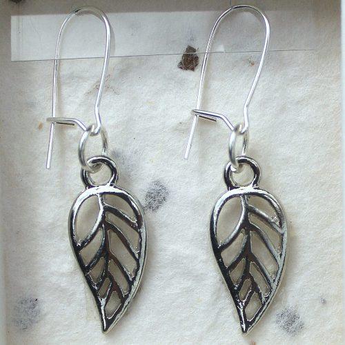 Leaf earrings card