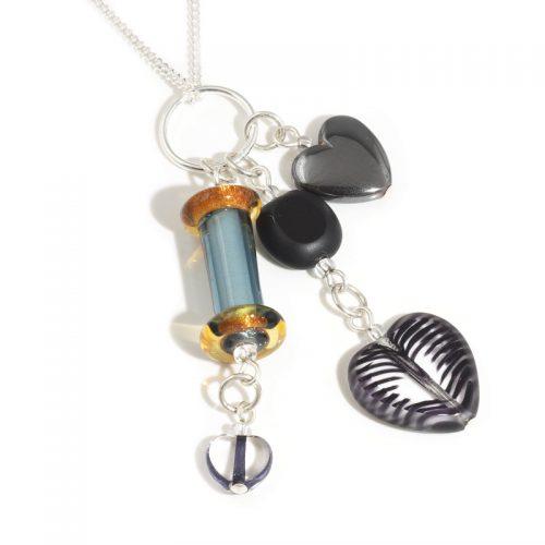 Monochrome Glass Column Necklace