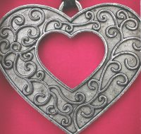 Open Heart Pendant Card