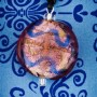 Lavender Wave Glass Disc pendant