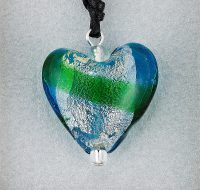 Emerald Glass Heart pendant card