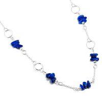 Lapis Lazuli Silver Ring Necklace