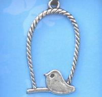 Bird on Perch pendant