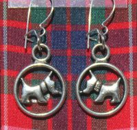 Red Scottie Dog earrings